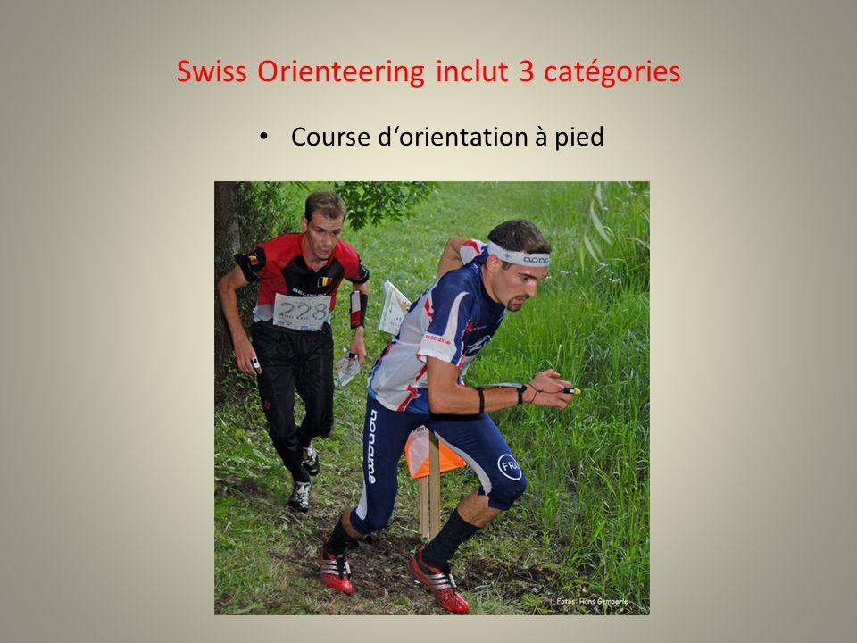Swiss Orienteering inclut 3 catégories Course dorientation à pied
