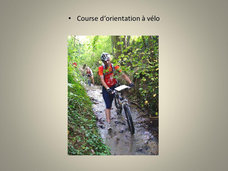 Course dorientation à vélo