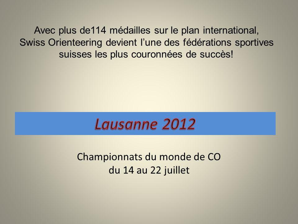 Avec plus de114 médailles sur le plan international, Swiss Orienteering devient lune des fédérations sportives suisses les plus couronnées de succès.