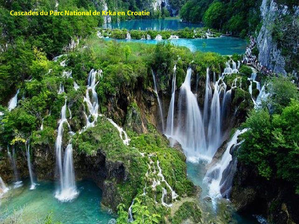 Cascades du Parc National de Krka en Croatie