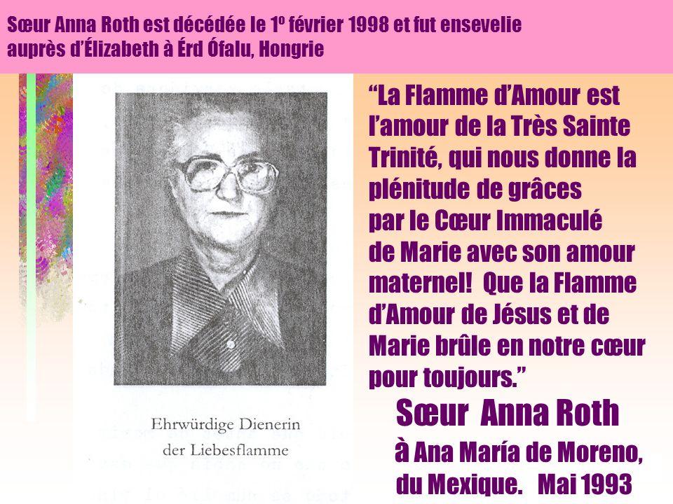 28 La Flamme dAmour est lamour de la Très Sainte Trinité, qui nous donne la plénitude de grâces par le Cœur Immaculé de Marie avec son amour maternel.