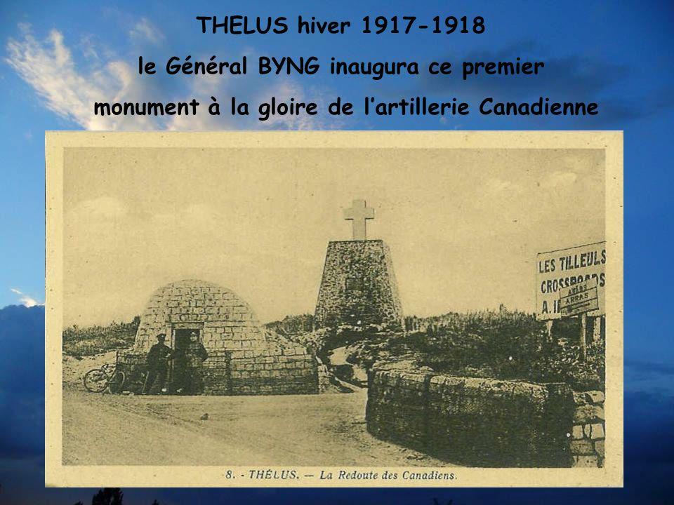 Les Canadiens remplacent cette croix par ce monument en 1936 sur la côte 145