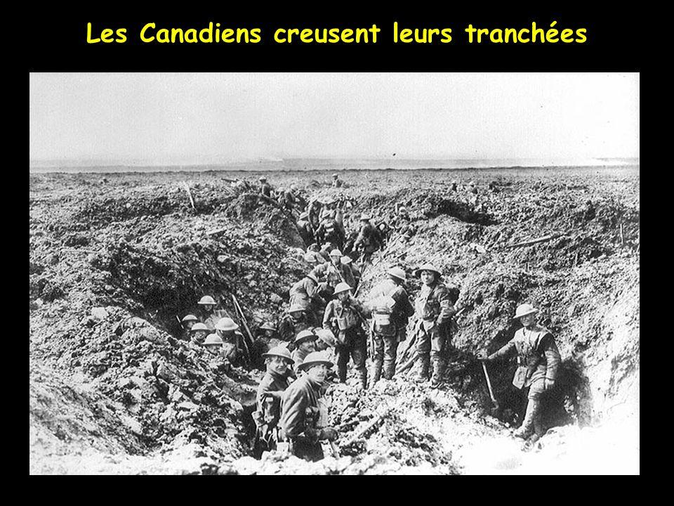 35 000 Canadiens remplacent les troupes Françaises et Anglaises Sur la crête de Vimy en octobre 1916