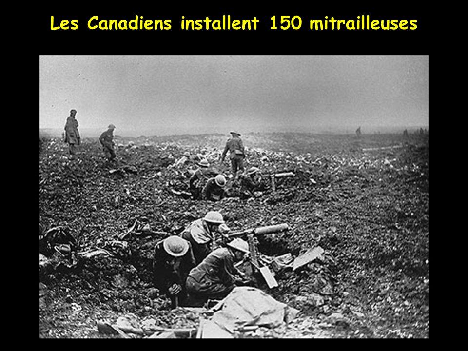 Les Canadiens creusent leurs tranchées