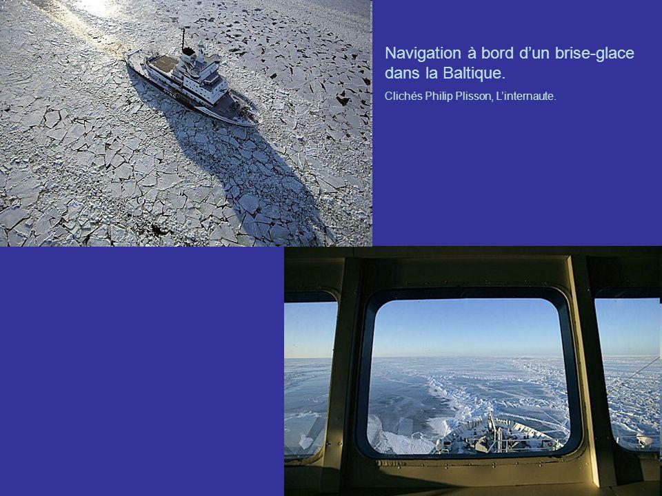 Navigation à bord dun brise-glace dans la Baltique. Clichés Philip Plisson, Linternaute.