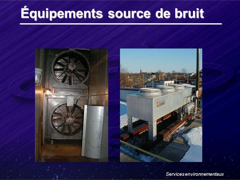 Services environnementaux Équipements source de bruit