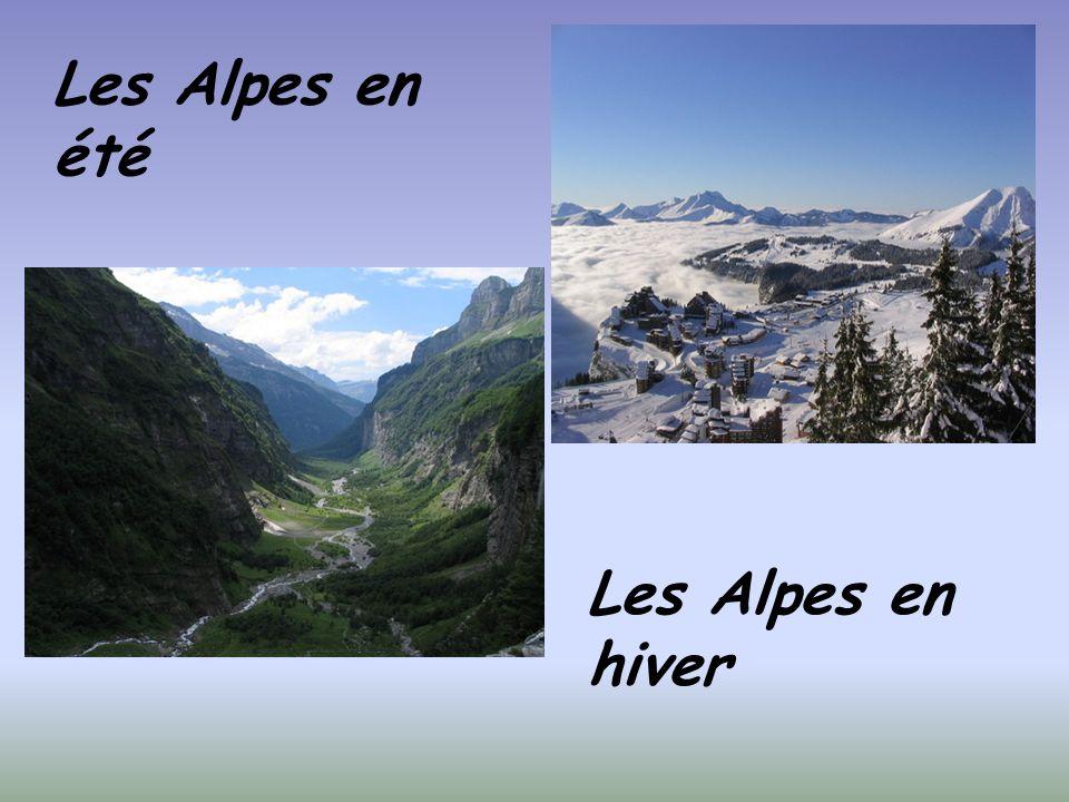 Les Alpes en été Les Alpes en hiver