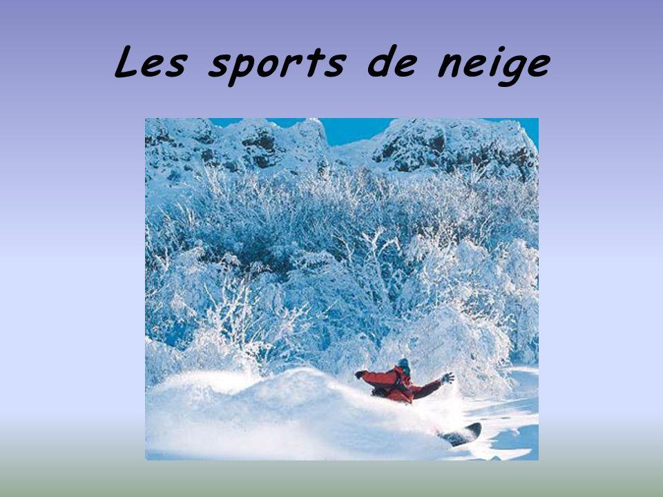 Les sports de neige