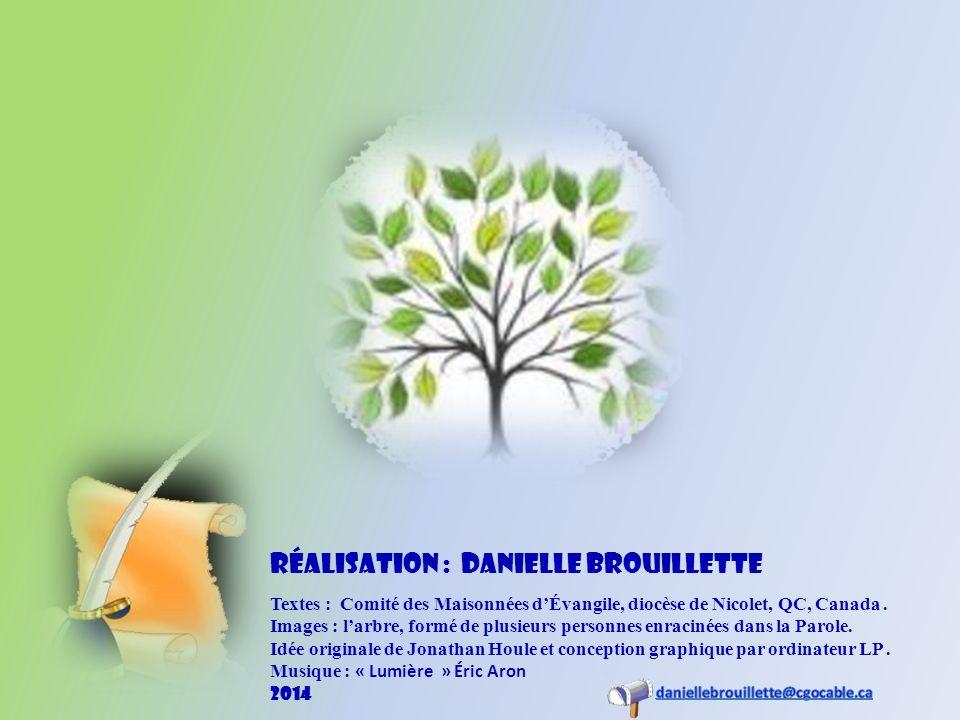 Textes : Comité des Maisonnées dÉvangile, diocèse de Nicolet, QC, Canada.