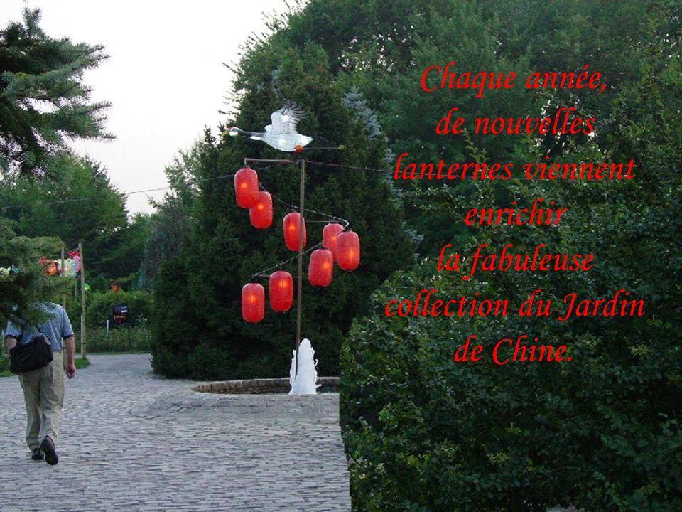 Chaque année, de nouvelles lanternes viennent enrichir la fabuleuse collection du Jardin de Chine.
