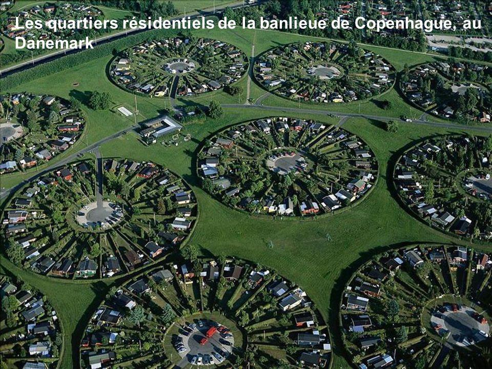 Les quartiers résidentiels de la banlieue de Copenhague, au Danemark