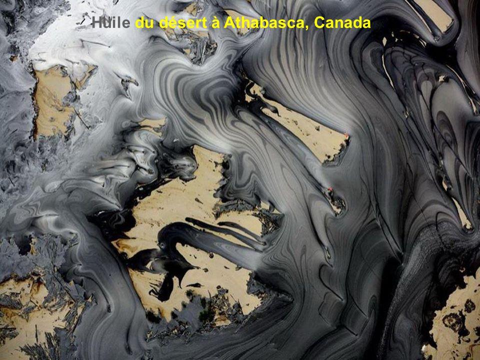 Huile du désert à Athabasca, Canada