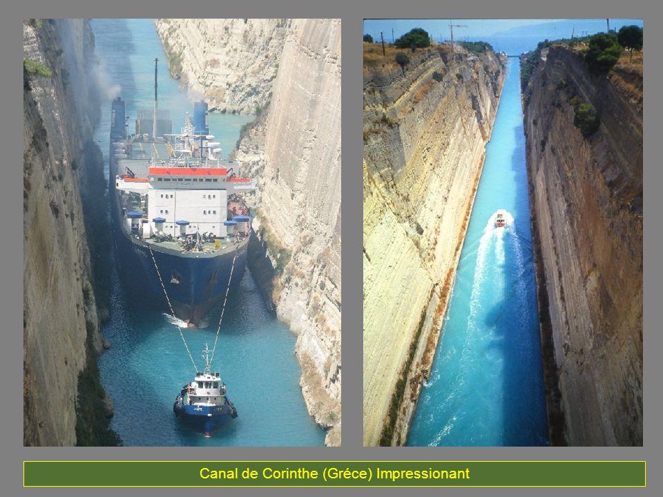 La construction de ce canal est considéré comme le plus difficile de tous les canaux.