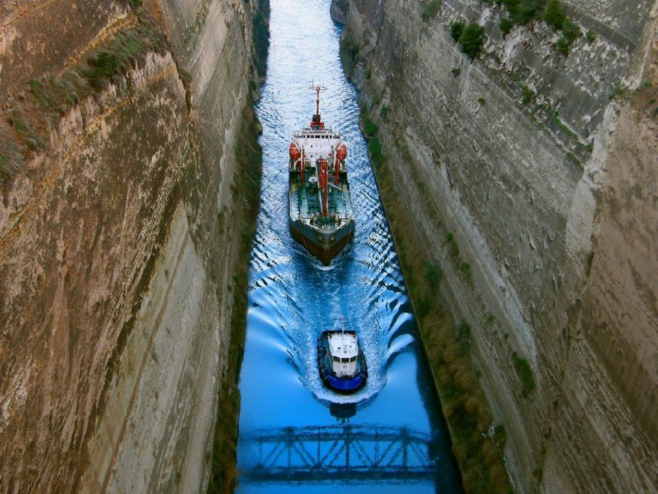 Canal de Corinthe (Gréce) Impressionant