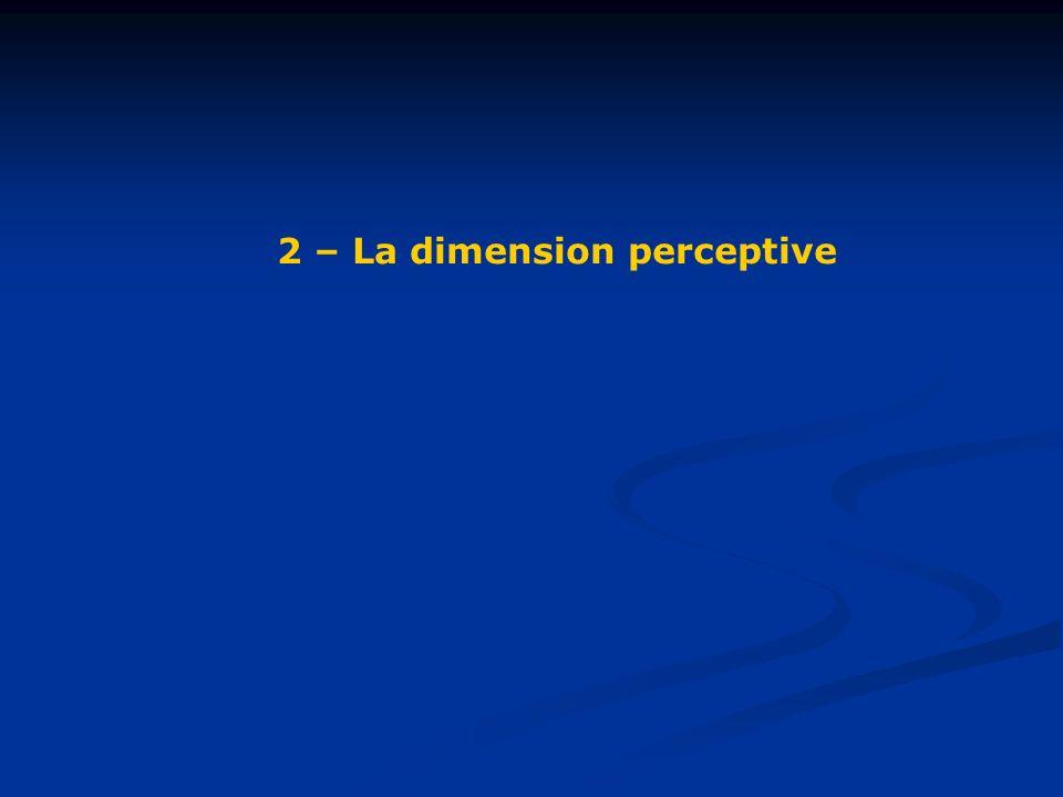 2 – La dimension perceptive