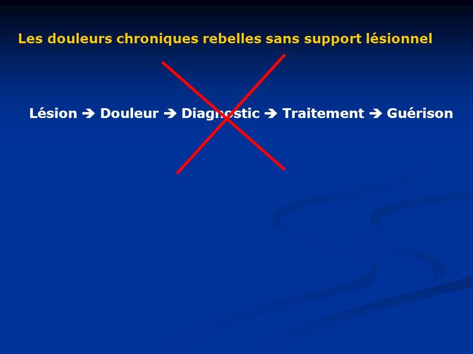 Les douleurs chroniques rebelles sans support lésionnel Lésion Douleur Diagnostic Traitement Guérison