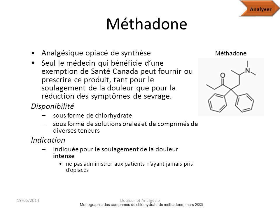 HydromorphoneAnalyze Base de données sur les produits pharmaceutiques de Santé Canada, consultée en février 2010; monographie du chlorhydrate dhydromorphone à libération immédiate, août 2008; monographie du chlorhydrate dhydromorphone à libération contrôlée (capsules), août 2009.