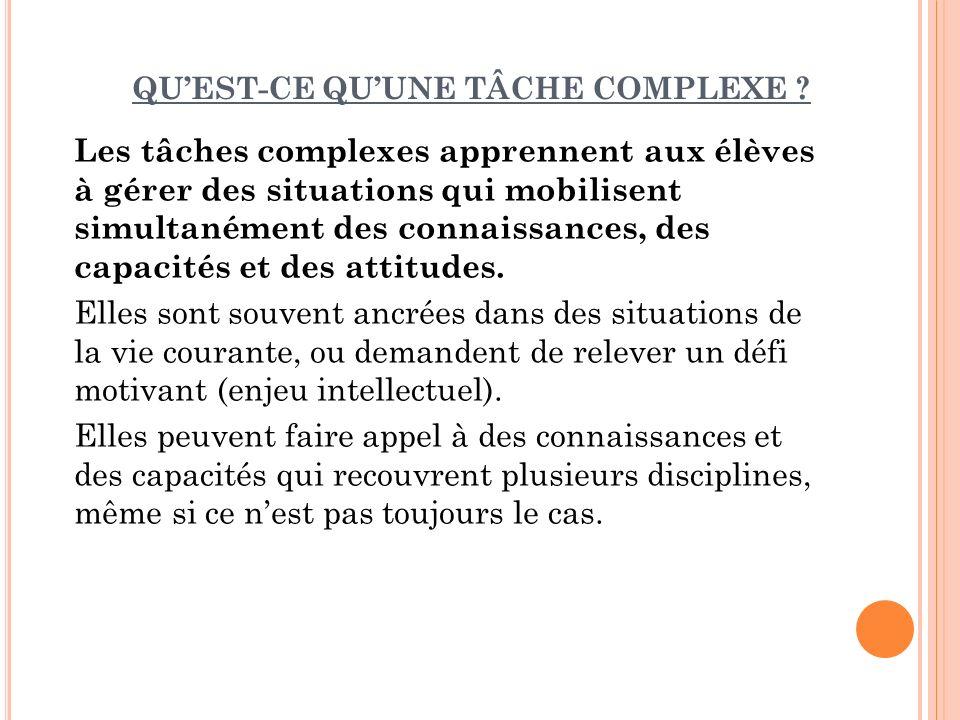 QUEST-CE QUUNE TÂCHE COMPLEXE .