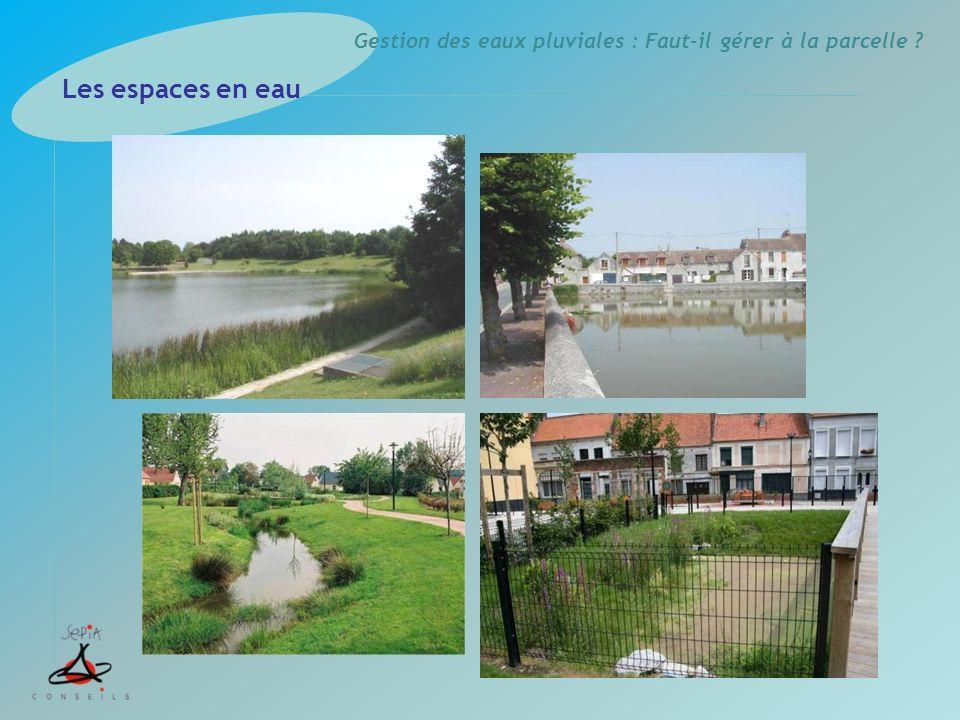 Gestion des eaux pluviales : Faut-il gérer à la parcelle ? Les espaces en eau