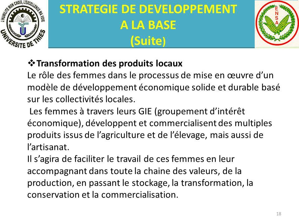 Transformation des produits locaux Le rôle des femmes dans le processus de mise en œuvre dun modèle de développement économique solide et durable basé