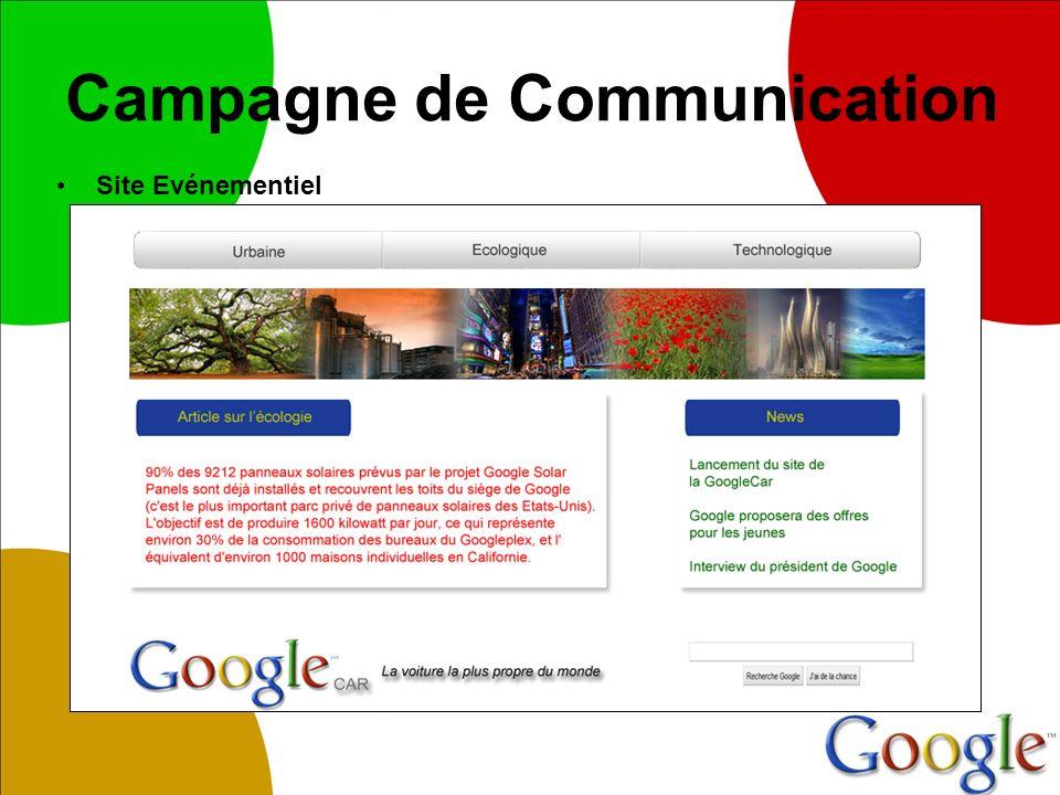 Campagne de Communication Site Evénementiel