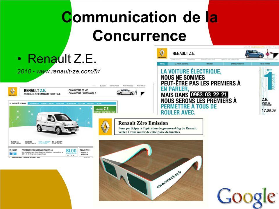 Communication de la Concurrence Renault Z.E. 2010 - www.renault-ze.com/fr/