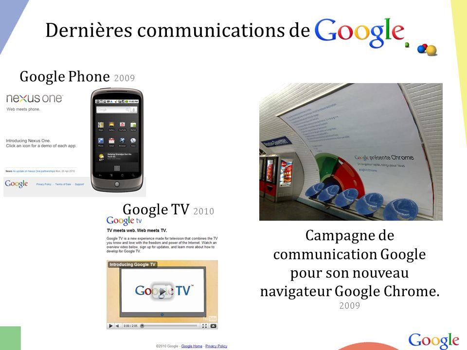 Campagne de communication Google pour son nouveau navigateur Google Chrome.