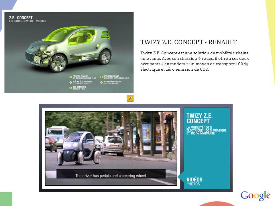 TWIZY Z.E.CONCEPT - RENAULT Twizy Z.E. Concept est une solution de mobilité urbaine innovante.