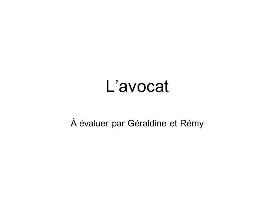 Lavocat À évaluer par Géraldine et Rémy