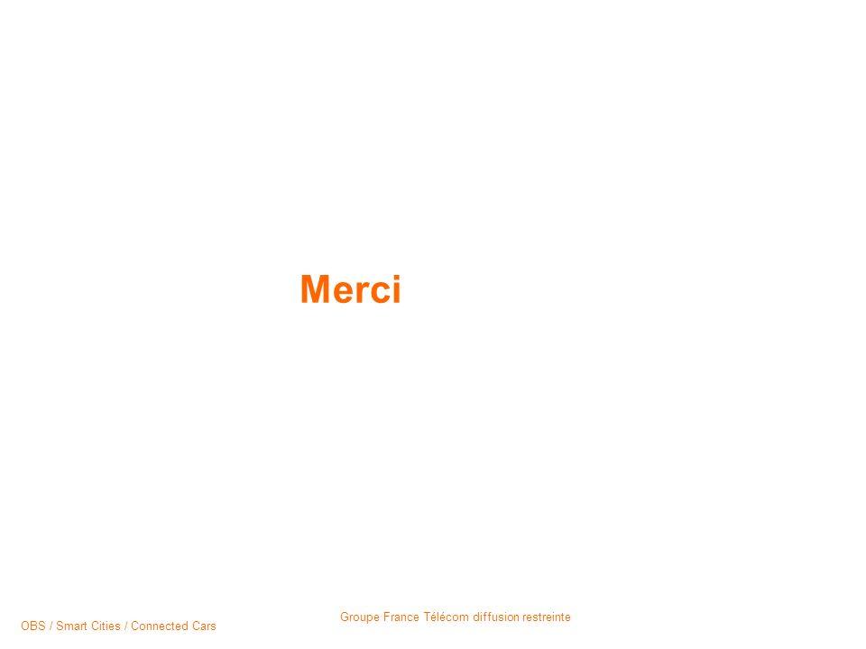 Groupe France Télécom diffusion restreinte Merci OBS / Smart Cities / Connected Cars