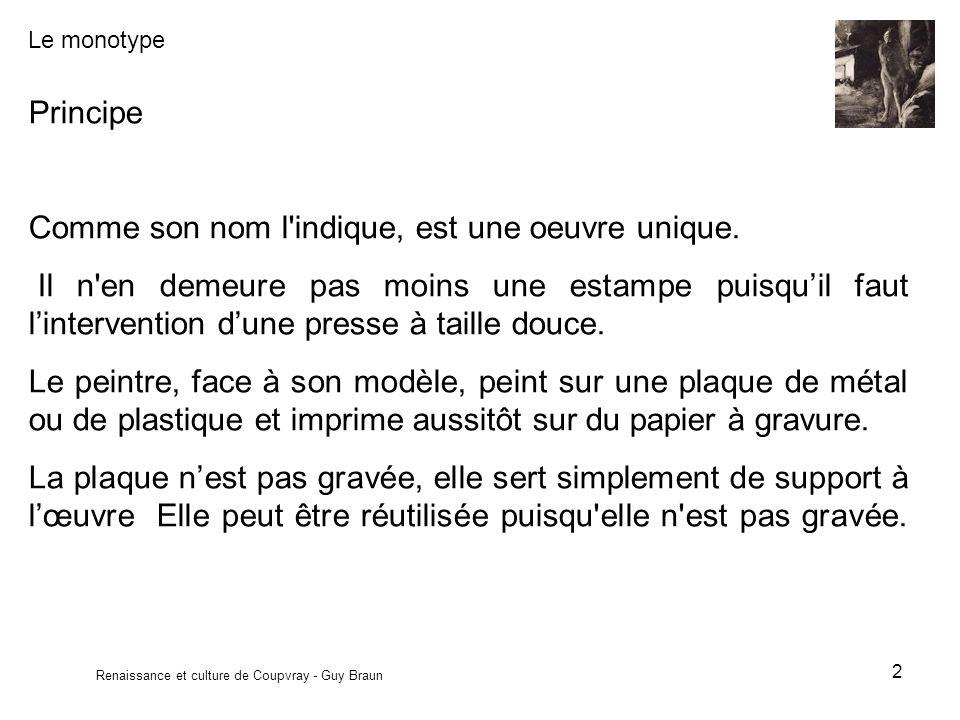 Le monotype Renaissance et culture de Coupvray - Guy Braun 13 Exemples Degas.