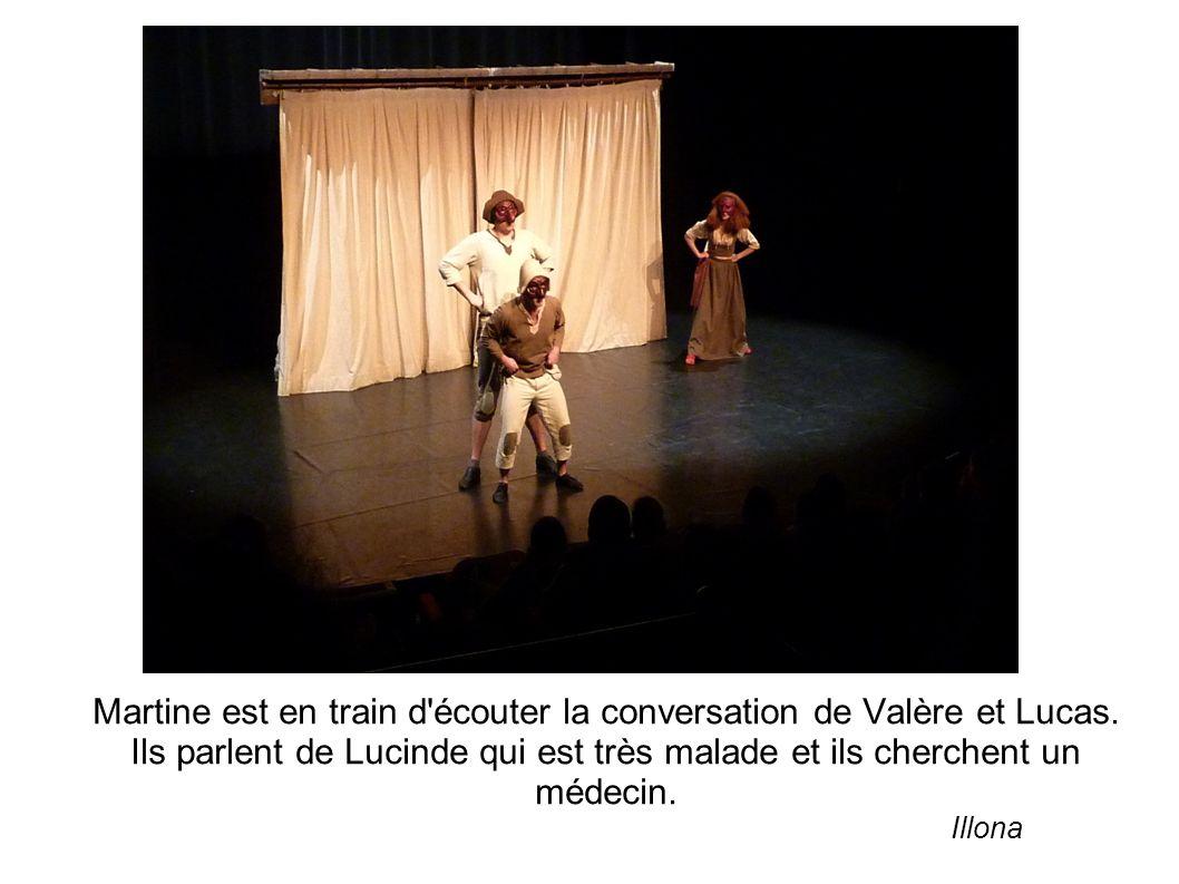 Lucas et Valère rencontrent Sganarelle dans la forêt.