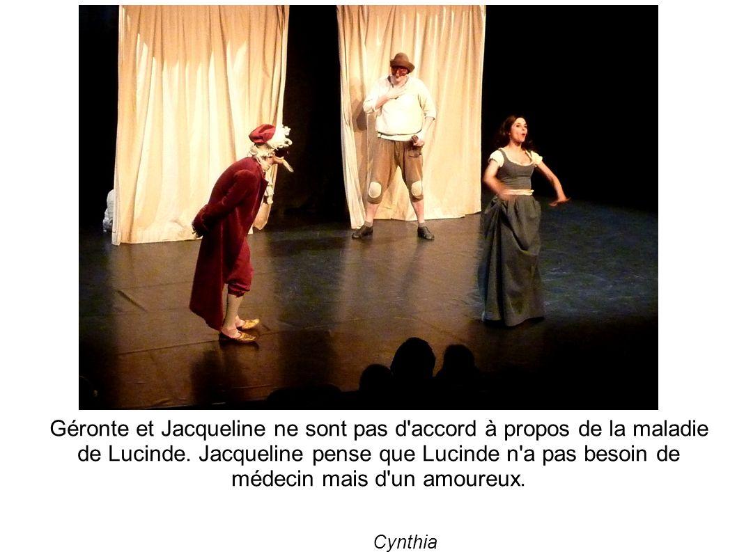 Géronte et Jacqueline ne sont pas d accord à propos de la maladie de Lucinde.
