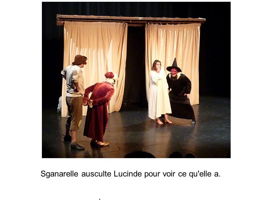 C est Léandre qui va voir Sganarelle pour lui dire que Lucinde n est pas malade.