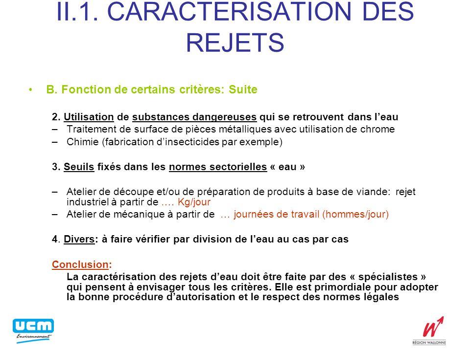 II.2.AUTORISATIONS ET PROCEDURE B.