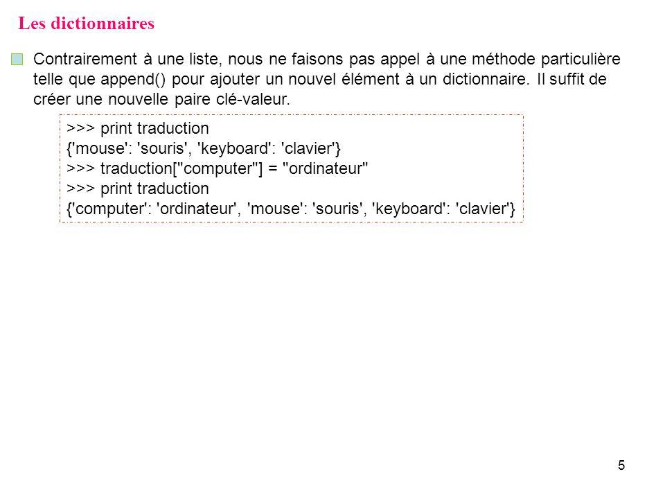 16 Exemple # 1 – Construction dun histogramme à laide dun dictionnaire.