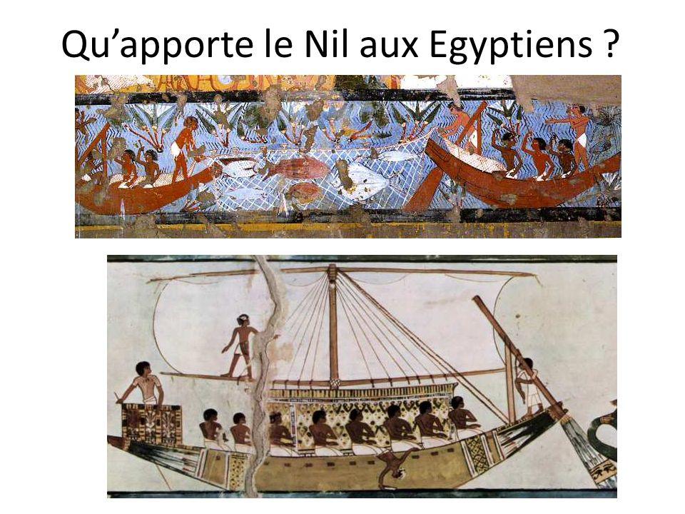 Quapporte le Nil aux Egyptiens ?