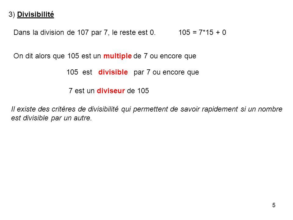 6 Un nombre est divisible par 2 sil est pair.