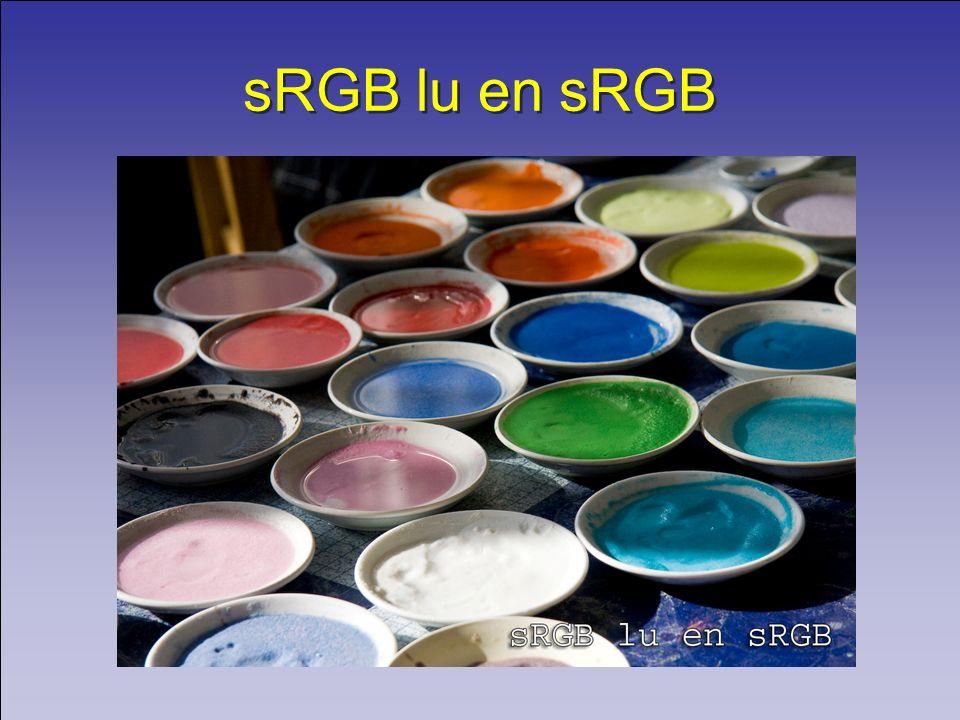 sRGB lu en sRGB