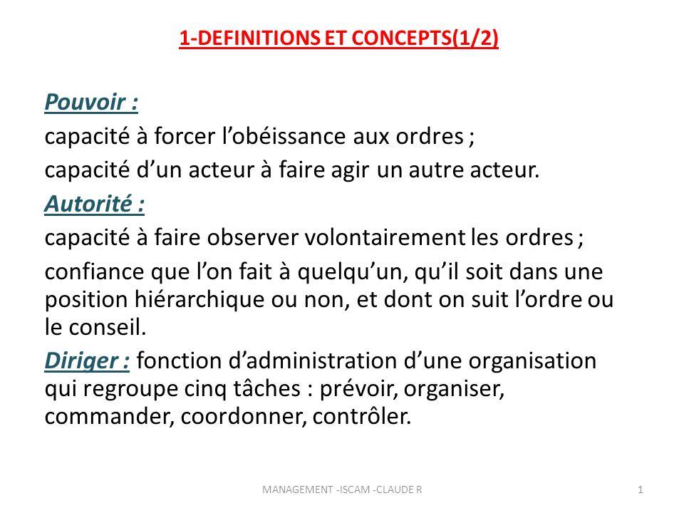 10-LES STYLES DE DIRECTION 2-LA GRILLE MANAGERIALE DE BLAKE ET MOUTON R.