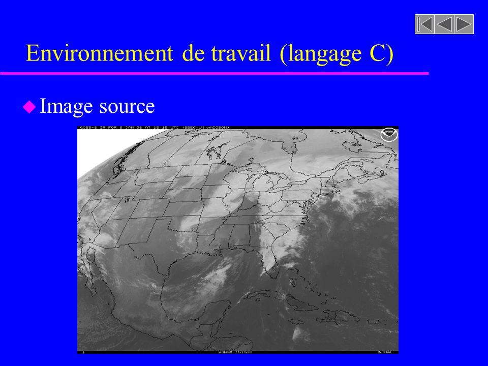 Environnement de travail (langage C) u Image source