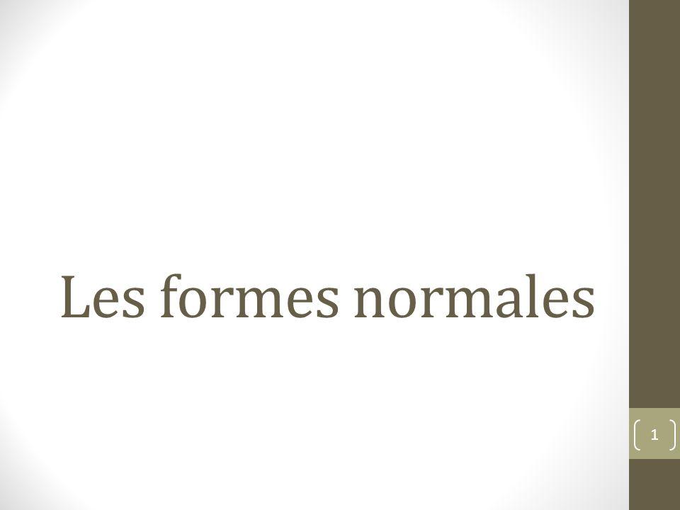 Les formes normales 1
