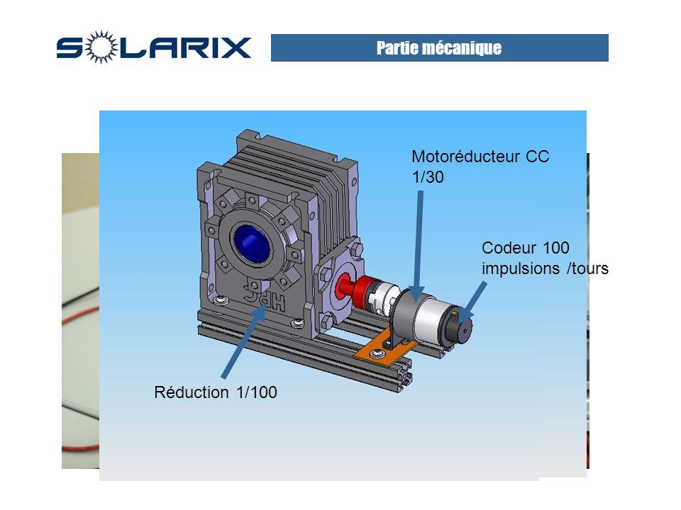 Motoréducteur CC 1/30 Codeur 100 impulsions /tours Réduction 1/100 Partie mécanique