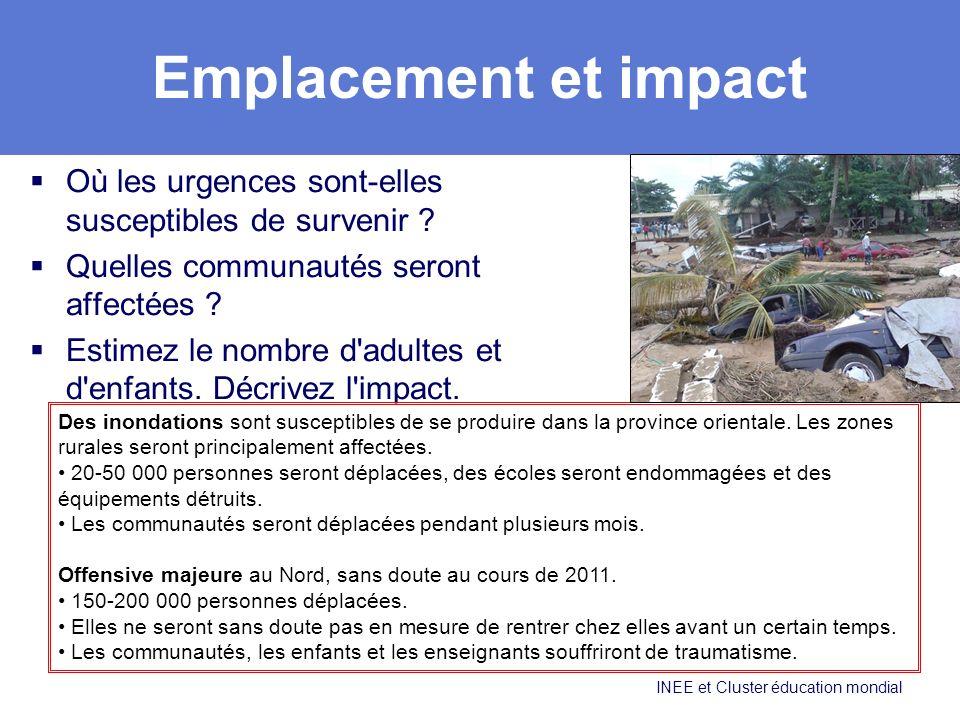 Emplacement et impact Où les urgences sont-elles susceptibles de survenir .