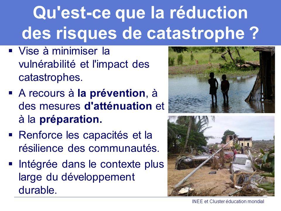 Qu est-ce que la réduction des risques de catastrophe .