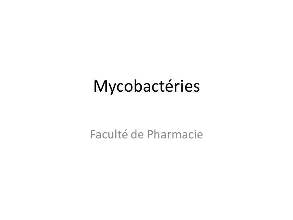 Mycobactéries Faculté de Pharmacie