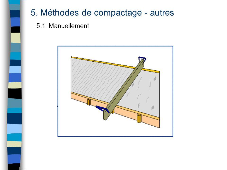 5. Méthodes de compactage - autres 5.1. Manuellement
