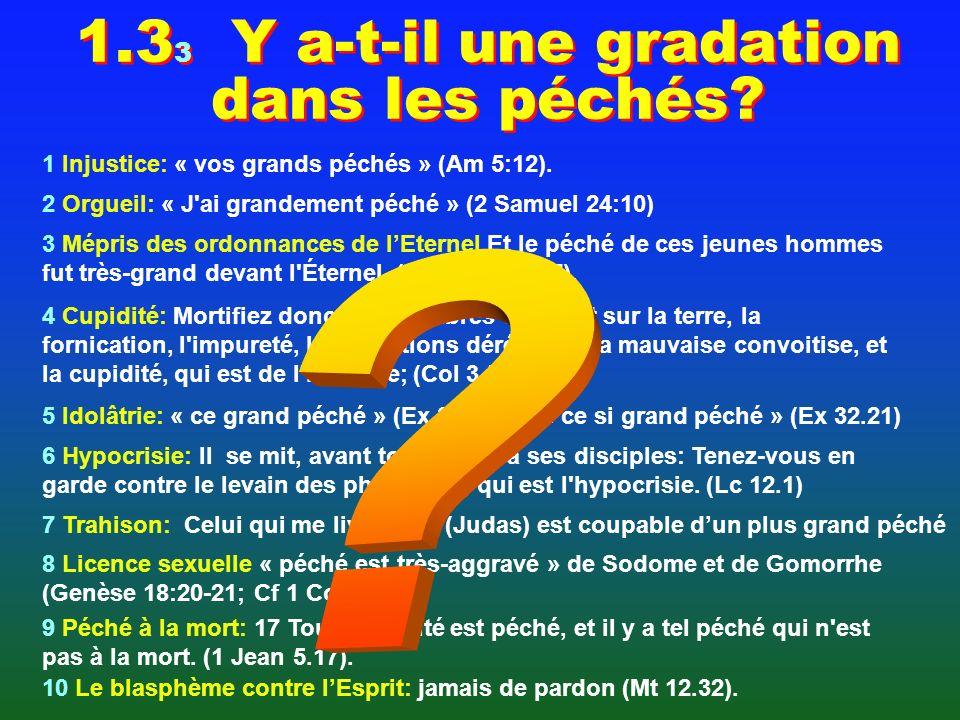 1.3 2 Y a-t-il une gradation dans les péchés Qui vole UN OEUF vole UN BOEUF Juste ou faux 25