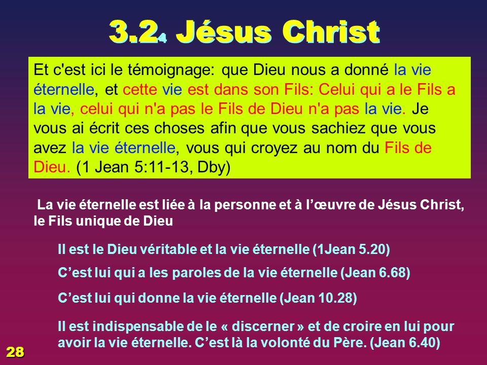 3.2 3 Lhomme Dieu a tant aimé le monde, qu il a donné son Fils unique, afin que quiconque croit en lui ne périsse pas, mais qu il ait la vie éternelle.