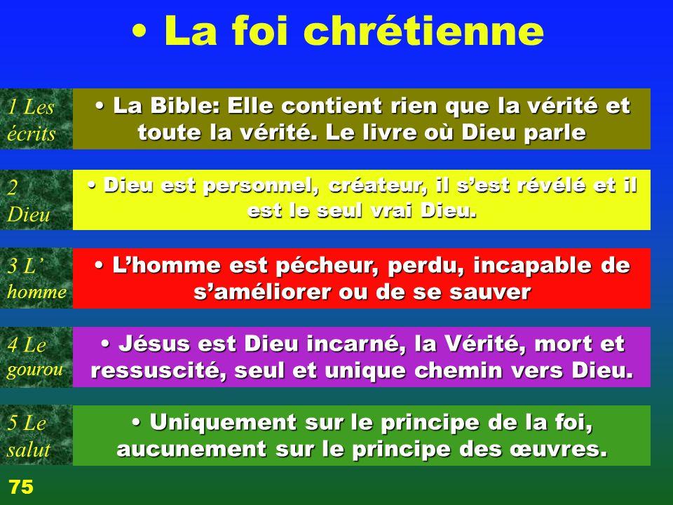 Test / Profil 3 L homme Quel est le livre sur lequel est fondée votre foi .